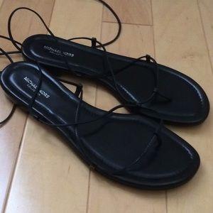 19b6250635b3 Michael Kors Shoes - Michael Kors Bradshaw Lace Up Gladiator Sandals